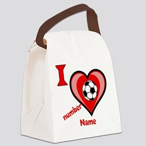 custom soccer Canvas Lunch Bag