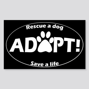 Adopt Sticker (White on Black) Sticker