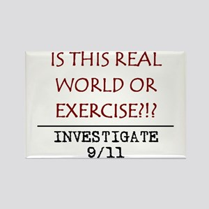 9/11: REAL WORLD? Rectangle Magnet