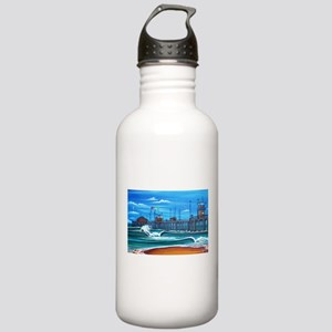 Huntington Beach Pier CIrca 1983 Stainless Water B
