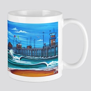 Huntington Beach Pier CIrca 1983 Mug