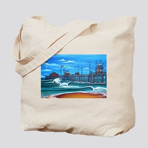 Huntington Beach Pier CIrca 1983 Tote Bag