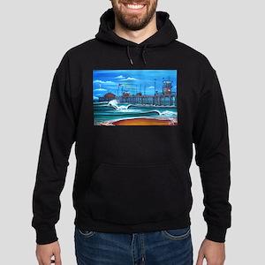 Huntington Beach Pier CIrca 1983 Hoodie (dark)