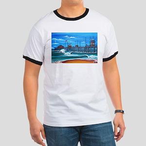Huntington Beach Pier CIrca 1983 Ringer T