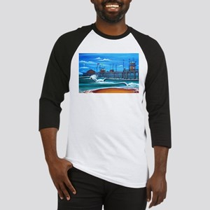 Huntington Beach Pier CIrca 1983 Baseball Jersey