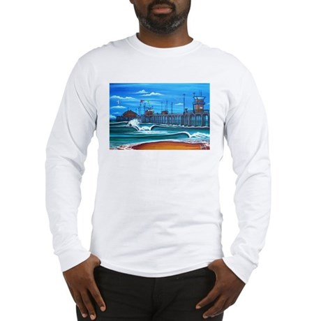 Huntington Beach Pier CIrca 1983 Long Sleeve T-Shi