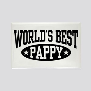 World's Best Pappy Rectangle Magnet