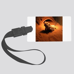 .bearded dragon. Large Luggage Tag