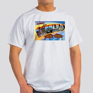 Buffalo New York Greetings (Front) Ash Grey T-Shir