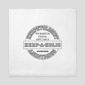 I am a Herp-A-Holic Queen Duvet