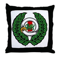 Midrealm Chiv Laurel 1 Throw Pillow