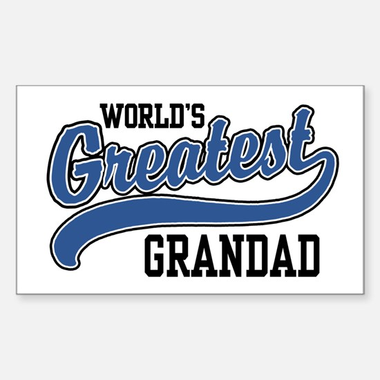 World's Greatest Grandad Sticker (Rectangle)