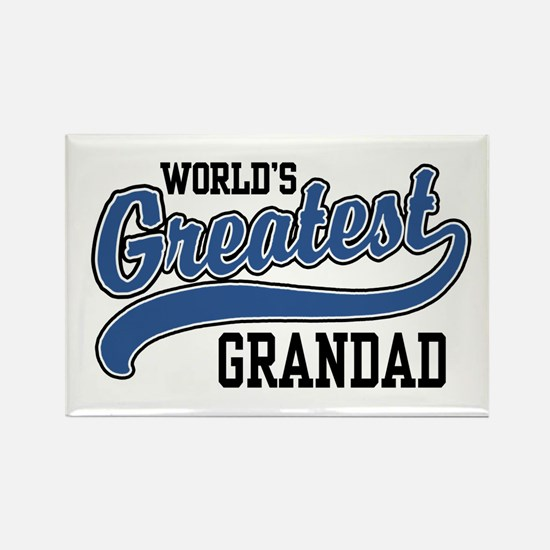 World's Greatest Grandad Rectangle Magnet