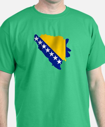 Bosnia and Herzegovina map flag T-Shirt