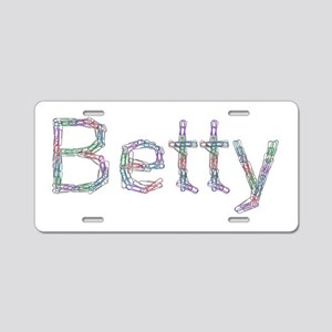 Betty Paper Clips Aluminum License Plate