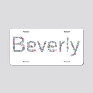 Beverly Paper Clips Aluminum License Plate