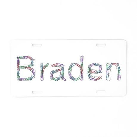 Braden Paper Clips Aluminum License Plate by namestuff