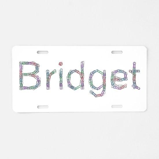 Bridget Paper Clips Aluminum License Plate
