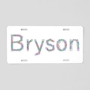Bryson Paper Clips Aluminum License Plate