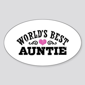 World's Best Auntie Sticker (Oval)