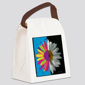 Square TechniDaisy Canvas Lunch Bag