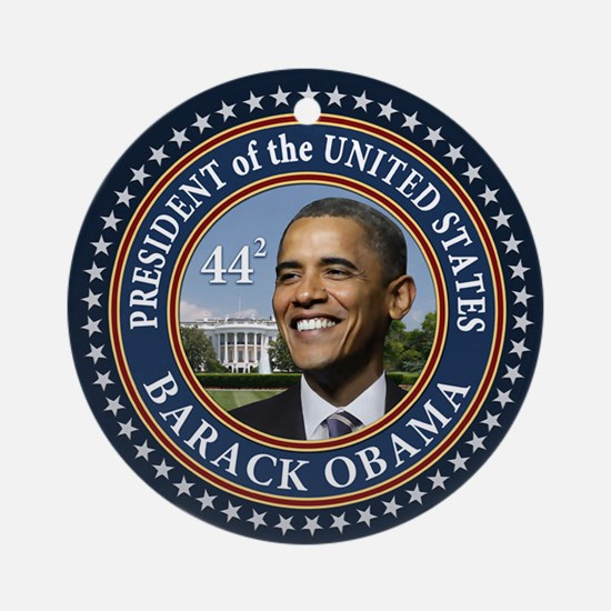 Obama 44 Presidential Seal Ornament (Round)