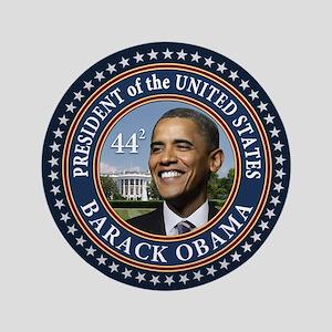 """Obama 44 Presidential Seal 3.5"""" Button"""