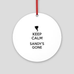Keep Calm Sandy's Gone Ornament (Round)