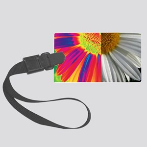 halfway daisy - all color Large Luggage Tag