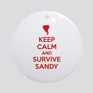 Keep Calm and Survive Sandy Ornament (Round)