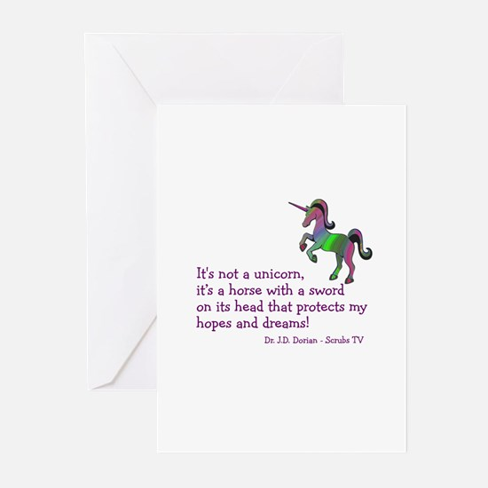 Scrubs Unicorn Quotes Greeting Cards (Pk of 20)