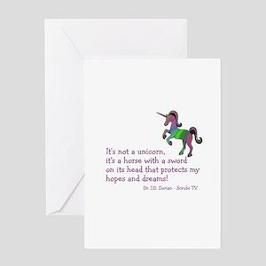 Scrubs Unicorn Quotes Greeting Card