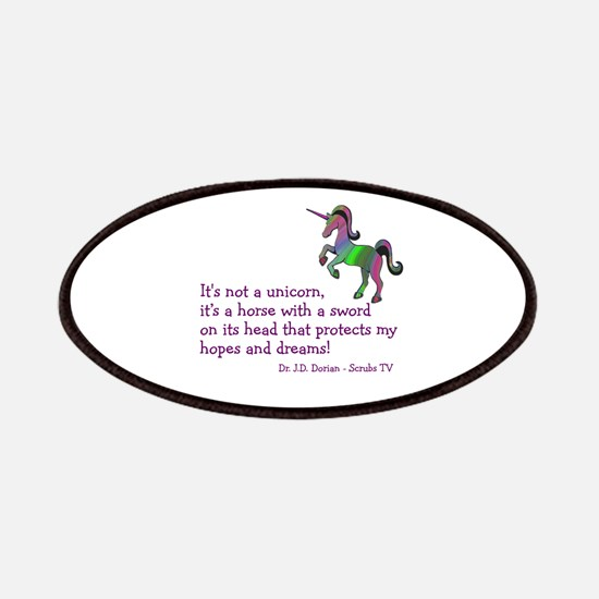 Scrubs Unicorn Quotes Patches