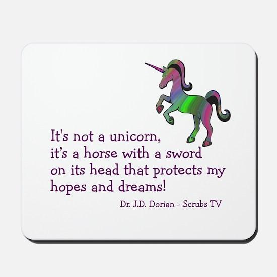 Scrubs Unicorn Quotes Mousepad