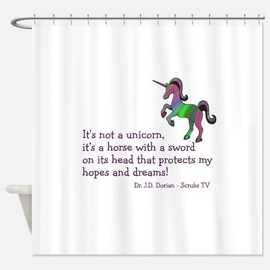 Scrubs Unicorn Quotes Shower Curtain