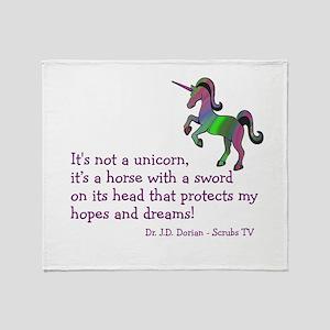 Scrubs Unicorn Quotes Throw Blanket