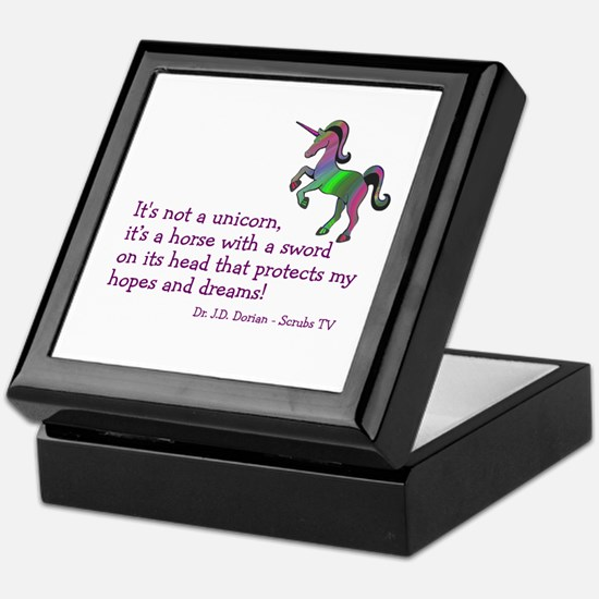 Scrubs Unicorn Quotes Keepsake Box