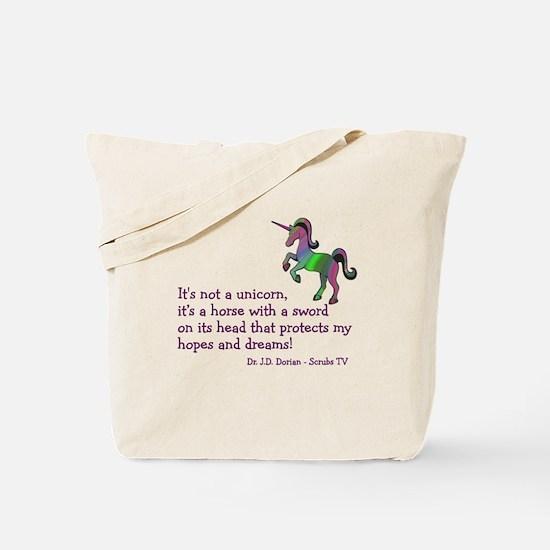 Scrubs Unicorn Quotes Tote Bag
