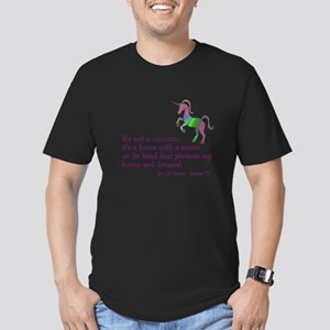 Scrubs Unicorn Quotes Men's Fitted T-Shirt (dark)