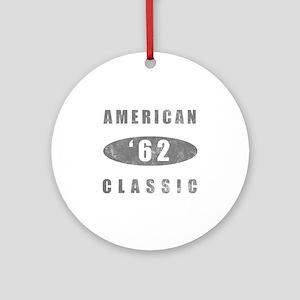 1962 Birthday Classic Ornament (Round)