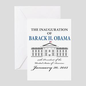 2013 Obama inauguration day Greeting Card