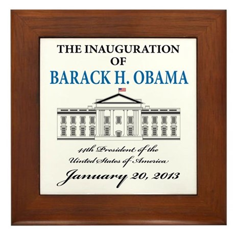 2013 Obama inauguration day Framed Tile