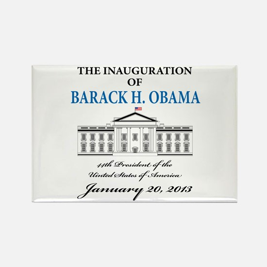 2013 Obama inauguration day Rectangle Magnet (10 p