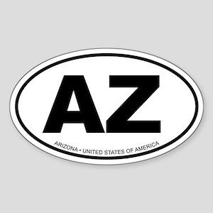 Arizona Oval Sticker