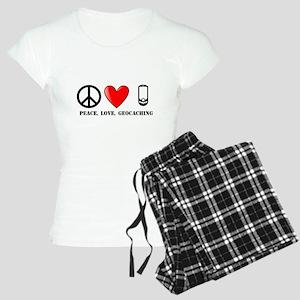 Peace, Love, Geocaching Women's Light Pajamas