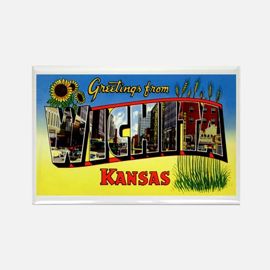 Wichita Kansas Greetings Rectangle Magnet