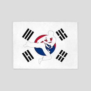 Taekwondo Man 5'x7'Area Rug