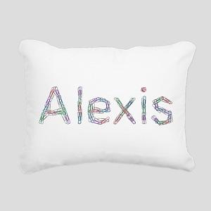 Alexis Paper Clips Rectangular Canvas Pillow