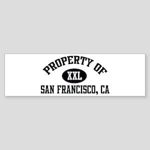 Property of SAN FRANCISCO Bumper Sticker