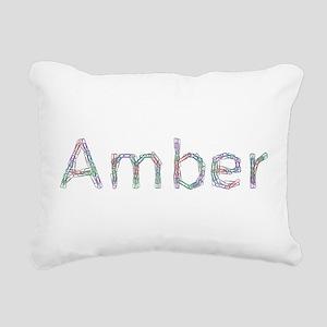 Amber Paper Clips Rectangular Canvas Pillow